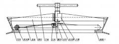 滚揉机中心螺旋压紧式桶盖结构